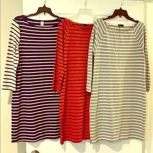 Long sleeve t-shirt dresses, Size M